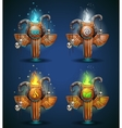 Set shaman totems - symbols of the four elements vector image vector image