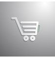 Shopping Cart Basket Symbol vector image vector image