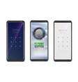 smartphones with access screen ui screen vector image vector image