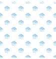 snow cloud holiday pattern seamless vector image vector image