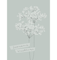 Snowy branches Seasons greetings design vector image