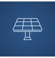 Solar panel line icon vector image