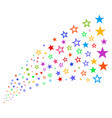 source stream of decoration stars vector image vector image