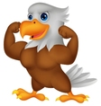 Strong eagle cartoon vector image vector image