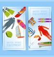summer water beach sea sports banners activities vector image
