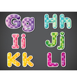 The alphabet letters vector image