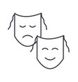 theatermasks show line icon sign vector image vector image