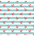 tile sailor pattern with a red anchor on stripes vector image vector image