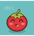 tomato fresch facial expression design graphic vector image