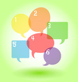 Transparent speech bubbles with numbers vector image