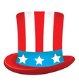 Uncle sam hat vector image