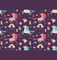 unicorn pattern vector image vector image
