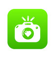 wedding photography icon green vector image