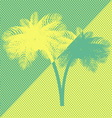 Yellow green palm tree vector image