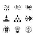 Idea icons set Business strategy and management vector image