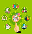 round pictures about elections vector image