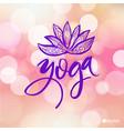logo for yoga studio or meditation class spa logo vector image