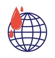Donate icon globe vector image