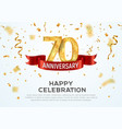 70 years anniversary banner template vector image vector image
