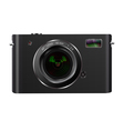 Abstract digital photo camera isolated on white vector image