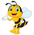Adorable bee presenting isolated vector image vector image