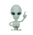 alien ufo character funny and scary space cartoon vector image