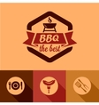 bbq design elements vector image vector image