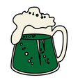 beer green saint patrick icon vector image