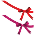 Bow decorated with sequins vector image vector image
