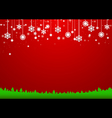 Christmas snowflakes background Paper style vector image