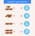 count and match dog cartoon vector image vector image