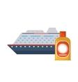 cruise ship and sun block icon vector image