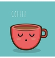 cup character coffee graphic isolated vector image