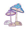 cute fungus fairytale icon vector image vector image