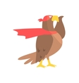 Eagle Animal Dressed As Superhero With A Cape vector image vector image