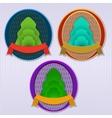 Ecology retro badge vector image vector image