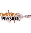 excel physical therapy text background word cloud