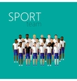 flat with men group or community wearing sport vector image vector image