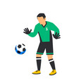 football soccer goalkeeper abstract green football vector image