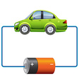 Frame design with car and battery vector image