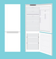 fridge open and closed vector image vector image