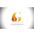 g orange letter design brush paint stroke gold vector image vector image