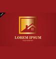 gold home icon logo vector image vector image