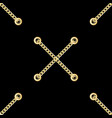 golden cross chains with metal eyelets seamless vector image