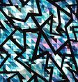 grunge mosaic geometric seamless pattern vector image vector image