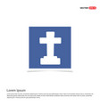 halloween grave cross icon - blue photo frame vector image