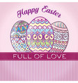 happy easter retro vector image