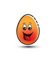 happy egg mascot cartoon vector image vector image