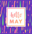 hello may sale banner vector image vector image