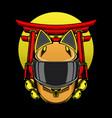 helmet cat ears logo vector image vector image